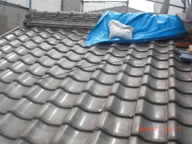 屋根のリフォーム施工前写真CIMG2532