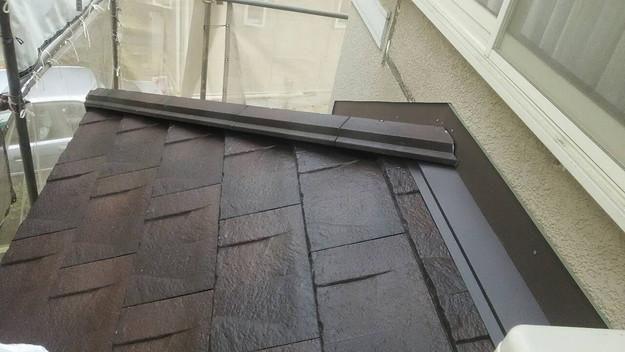 屋根のリフォーム神戸市新設屋根材ハイブリッド瓦完了1461820971560