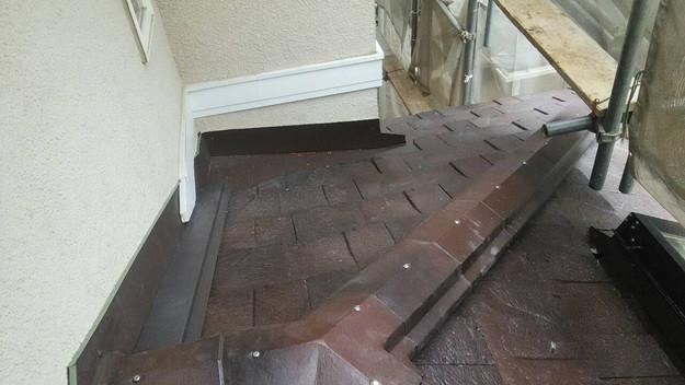 屋根のリフォーム神戸市新設屋根材ハイブリッド瓦完了1461820978448