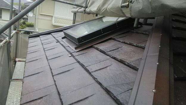 屋根のリフォーム神戸市新設屋根材ハイブリッド瓦完了1461820992054