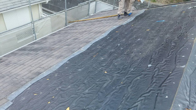 屋根のリフォーム葺き替え工事ビフォー既存屋根解体1461820834628