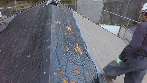 屋根のリフォーム葺き替え工事ビフォー既存屋根解体1461820836501