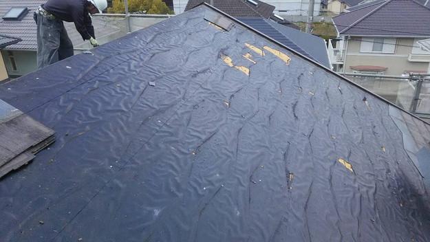 屋根のリフォーム葺き替え工事ビフォー既存屋根解体1461820842059