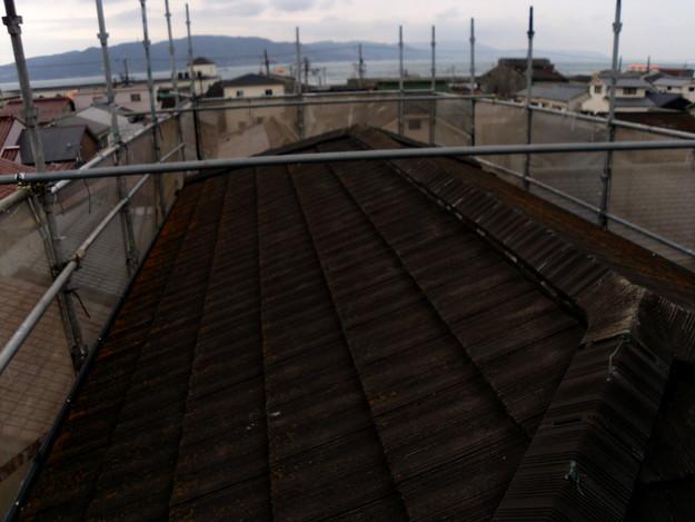 屋根のリフォーム葺き替え工事施工前DSCI1091