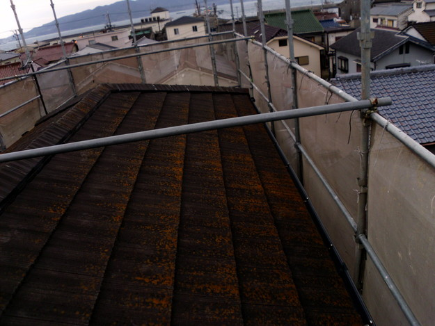 屋根のリフォーム葺き替え工事施工前DSCI1093