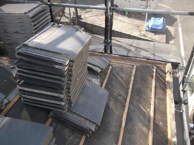 屋根のリフォーム葺き替え工事既存屋根解体DSCF4186