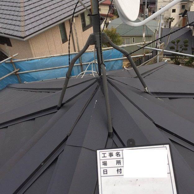 屋根リフォームカバー工法工事神戸1459342819492