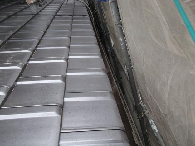 屋根リフォーム新設瓦材敷設作業DSCF4143