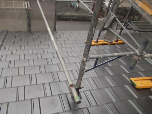 屋根リフォーム新設瓦材敷設作業DSCF4145
