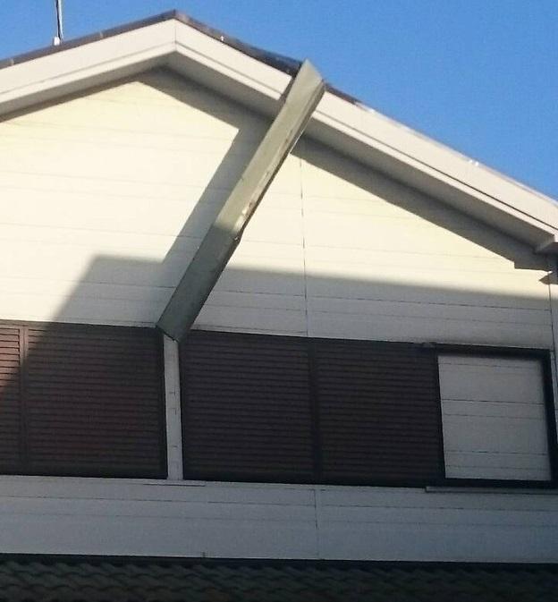 屋根修理ケラバ部分の板金箇所1461828091703