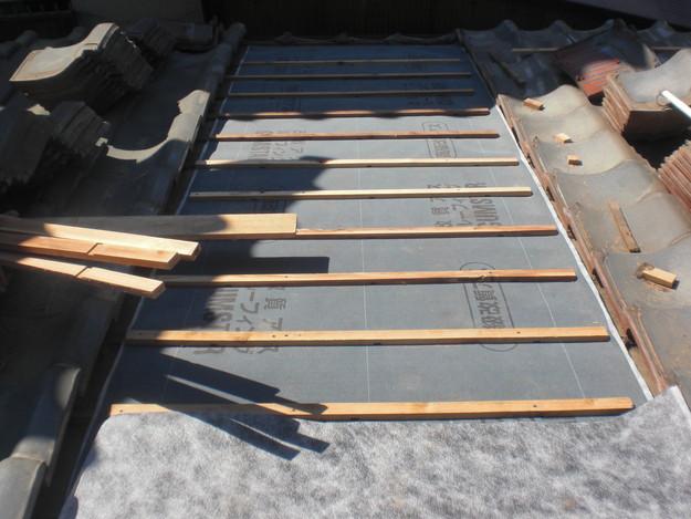 屋根修理ルーフィング防水シート張替工事CIMG2301