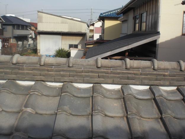 屋根修理棟瓦積替工事完了CIMG2315