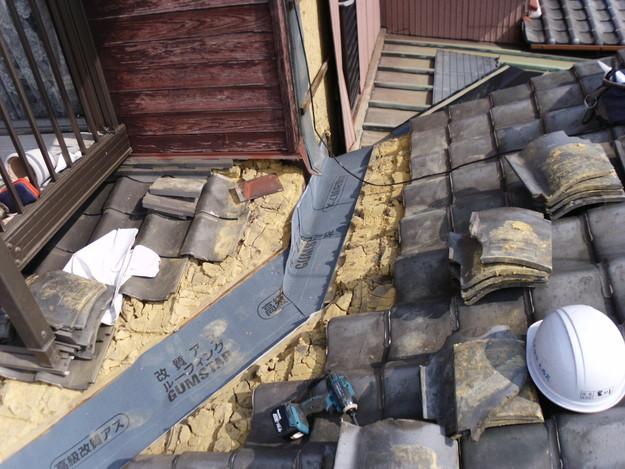 屋根板金交換工事施工中DSCI1182