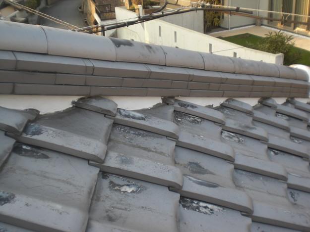 屋根漆喰工事完了CIMG2350