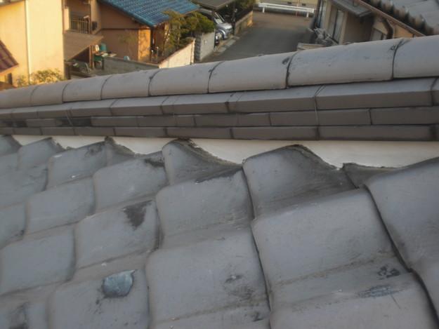 屋根漆喰工事完了CIMG2351