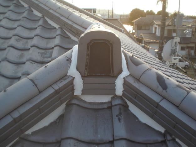屋根漆喰工事完了CIMG2352
