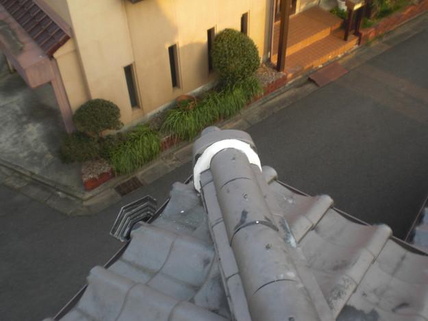 屋根漆喰工事完了CIMG2353