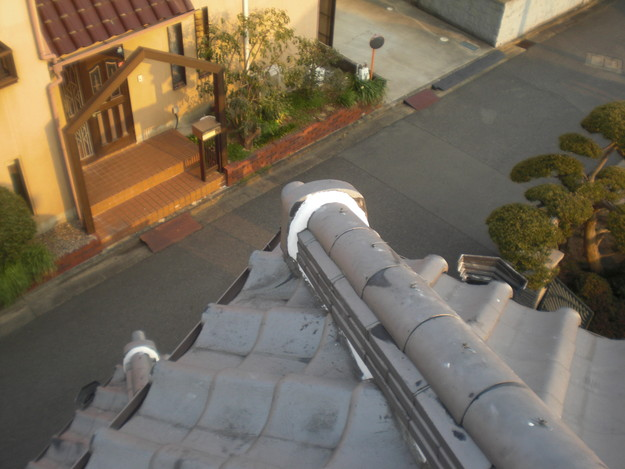 屋根漆喰工事完了CIMG2355