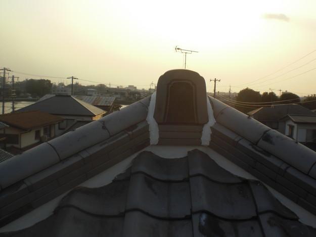 屋根漆喰工事完了CIMG2356