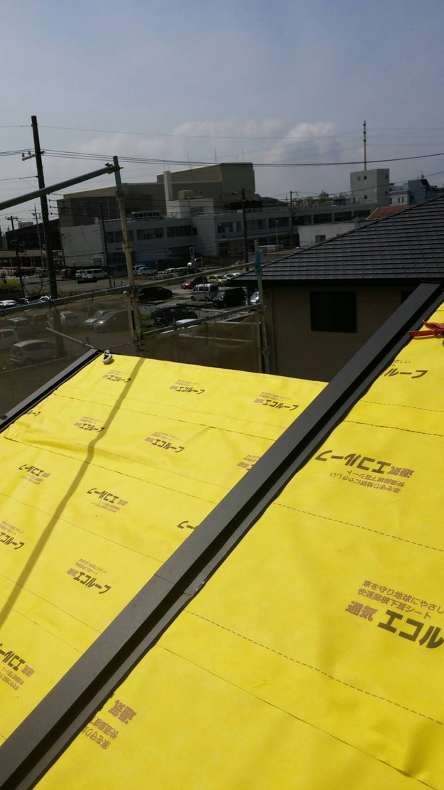 屋根防水シート敷設1460900593004