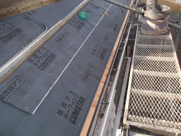 屋根防水シート敷設DSCF2752
