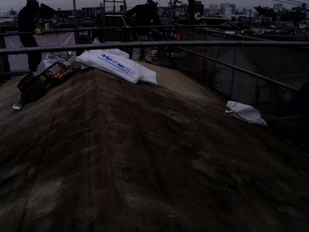 既存屋根材撤去作業DSCI1099