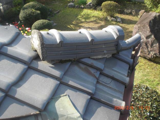 雨漏り・台風対策屋根修理ビフォーCIMG2575