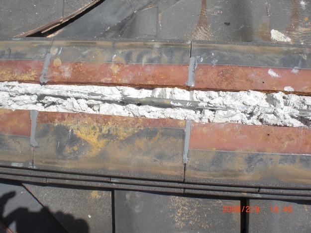 雨漏り・台風対策屋根修理施工中CIMG2590