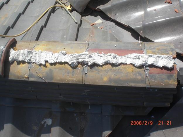 雨漏り・台風対策屋根修理施工中CIMG2594