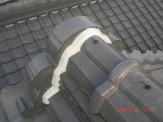 雨漏り・台風対策屋根修理施工中CIMG2598