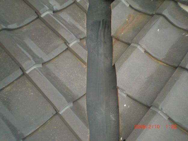 雨漏り・台風対策屋根修理施工中CIMG2599