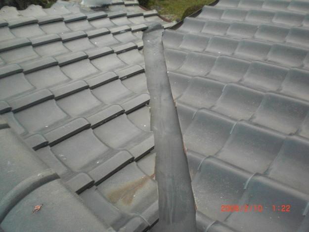 雨漏り・台風対策屋根修理施工中CIMG2601
