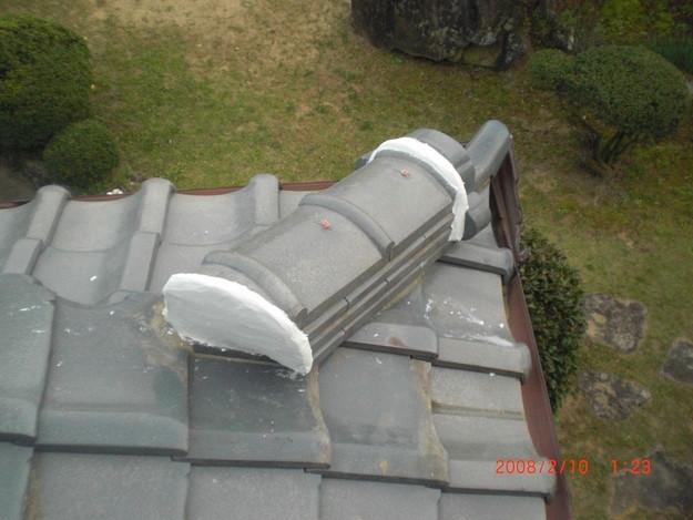 雨漏り・台風対策屋根修理施工中CIMG2602