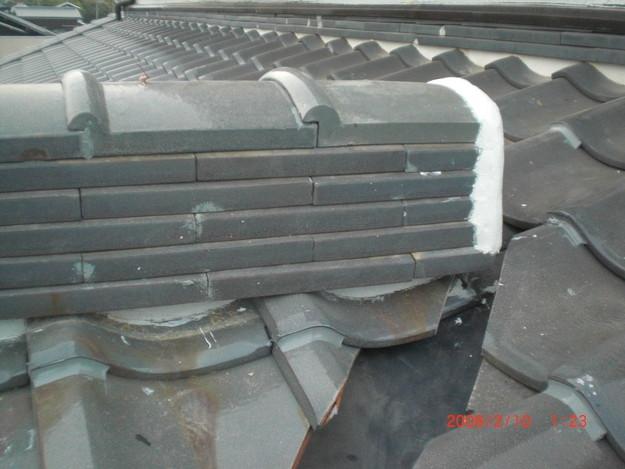 雨漏り・台風対策屋根修理施工中CIMG2606