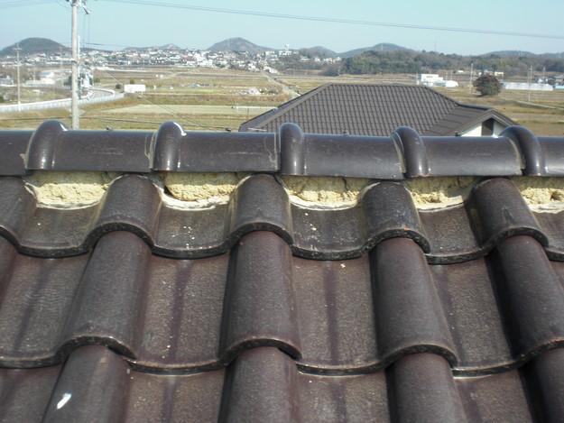 雨漏り・瓦ずれ対策修理工事施工中CIMG2377