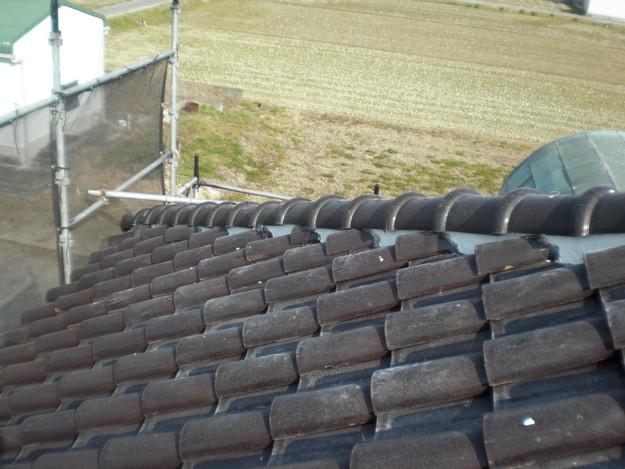 雨漏り・瓦ずれ対策漆喰工事完了写真CIMG2388