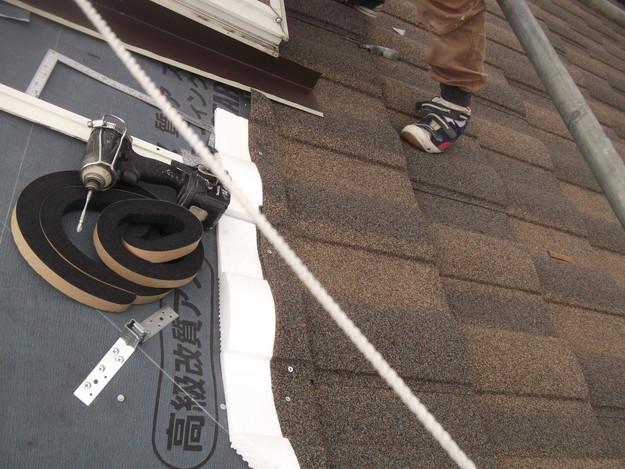 高級高性能洋風金属瓦によるカバー工法屋根リフォーム工事DSCF2760