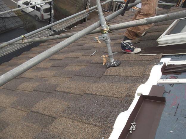 高級高性能洋風金属瓦によるカバー工法屋根リフォーム工事DSCF2762