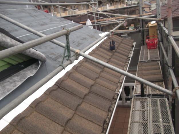 高級高性能洋風金属瓦によるカバー工法屋根リフォーム工事DSCF2763