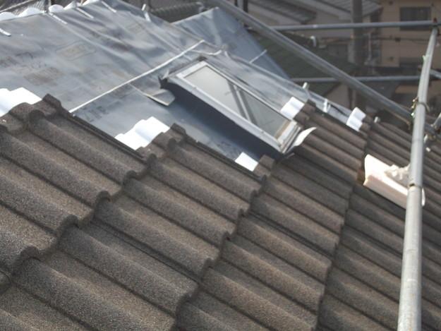 高級高性能洋風金属瓦によるカバー工法屋根リフォーム工事DSCF2776