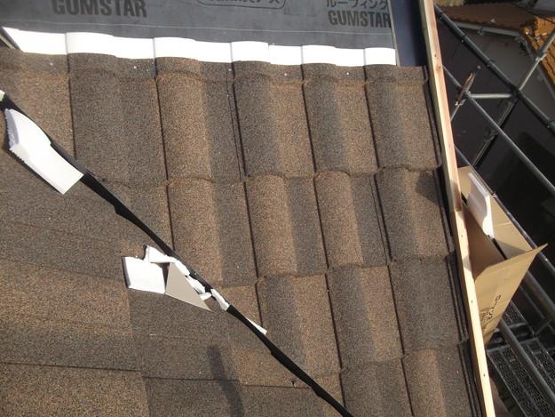 高級高性能洋風金属瓦によるカバー工法屋根リフォーム工事DSCF2779