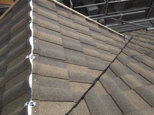 高級高性能洋風金属瓦によるカバー工法屋根リフォーム工事DSCF2782