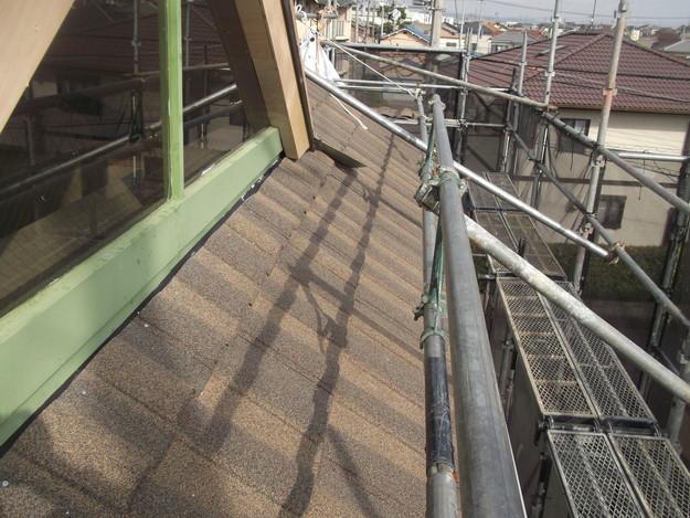 高級高性能洋風金属瓦によるカバー工法屋根リフォーム工事DSCF2785