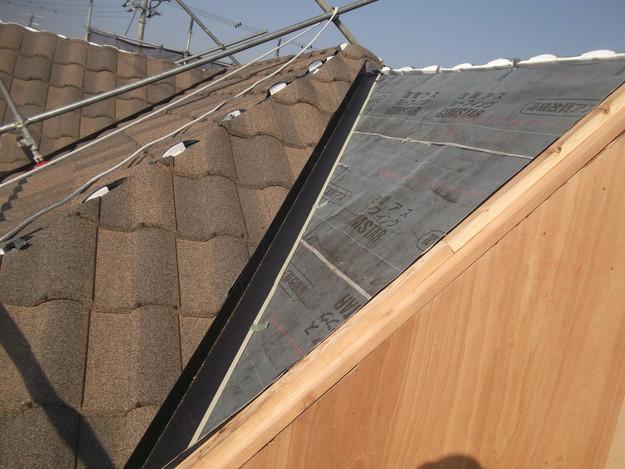 高級高性能洋風金属瓦によるカバー工法屋根リフォーム工事DSCF2802