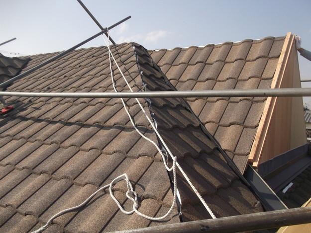 高級高性能洋風金属瓦によるカバー工法屋根リフォーム工事DSCF2820