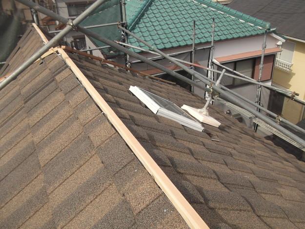 高級高性能洋風金属瓦によるカバー工法屋根リフォーム工事DSCF2826