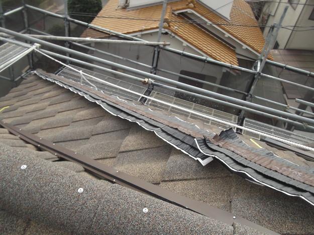 高級高性能洋風金属瓦によるカバー工法屋根リフォーム工事DSCF2830