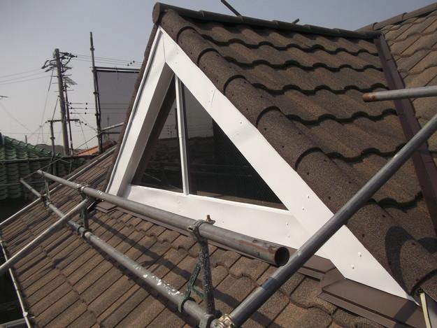 高級高性能洋風金属瓦によるカバー工法屋根リフォーム工事DSCF2842