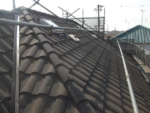 高級高性能洋風金属瓦によるカバー工法屋根リフォーム工事DSCF2852