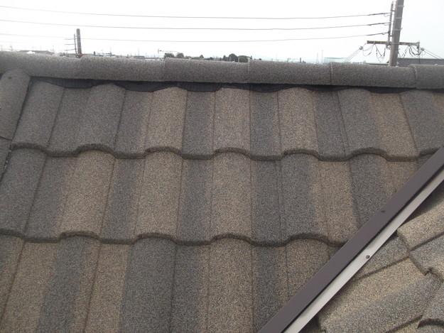 高級高性能洋風金属瓦によるカバー工法屋根リフォーム工事DSCF2927